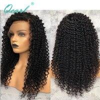 Бесклеевого парики Малайзии Волосы remy странный вьющиеся 150% 180% 200% плотность натуральные волосы парик Qearl