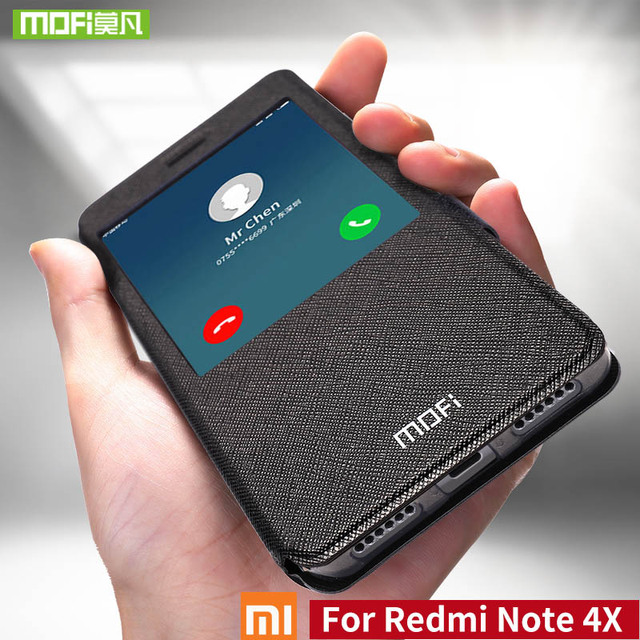 Mofi For Xiaomi redmi Note 4X case For Xiaomi redmi Note 4X Pro case cover silicon flip leather for xiaomi redmi Note 4X case