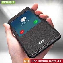 Mofi לxiaomi redmi הערה הערה מקרה 4X עבור Xiaomi redmi 4X עור flip case כיסוי הסיליקון לxiaomi redmi הערה פרו מקרה 4X