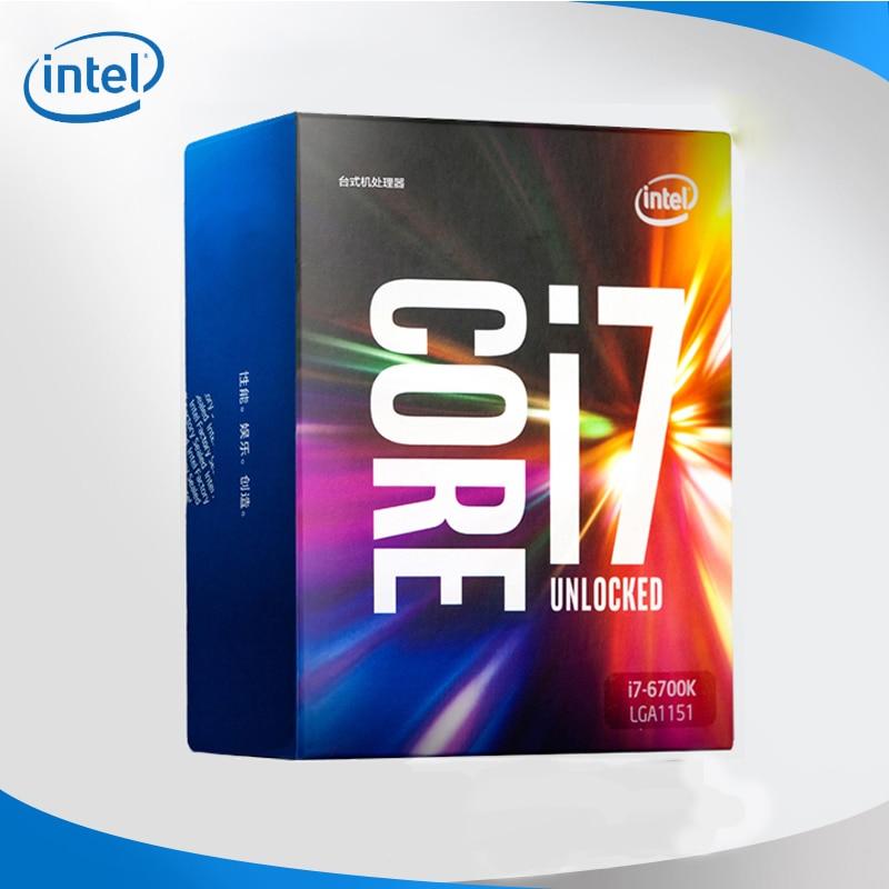 Intel Новый i7-6700K процессор Intel Core i7 6700K 6-го поколения процессор LGA1151 в штучной упаковке