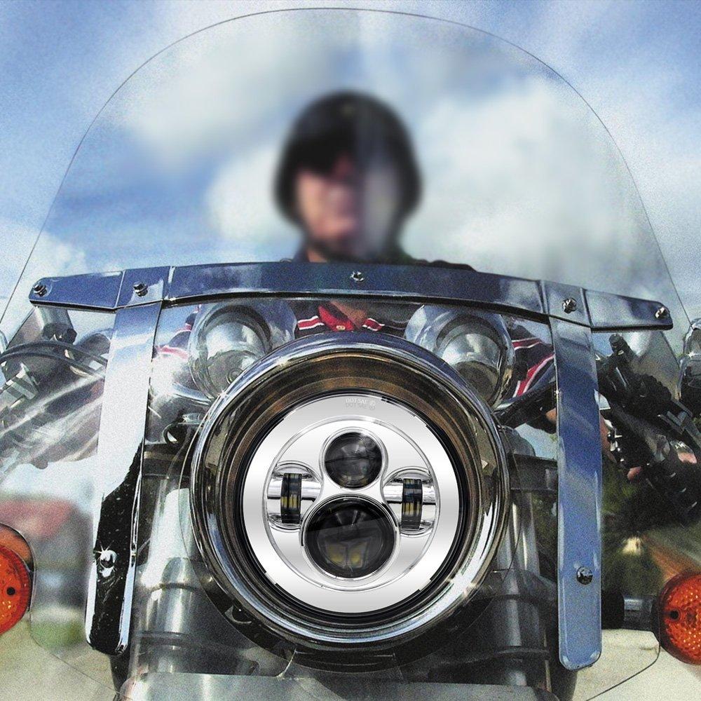 """Для Harley Touring Trike FLS, FLSTC, FLSTF, FLSTFB, Harley Мотоциклов 7 """"Daymaker Проектор СВЕТОДИОДНЫЕ Фары Фары"""