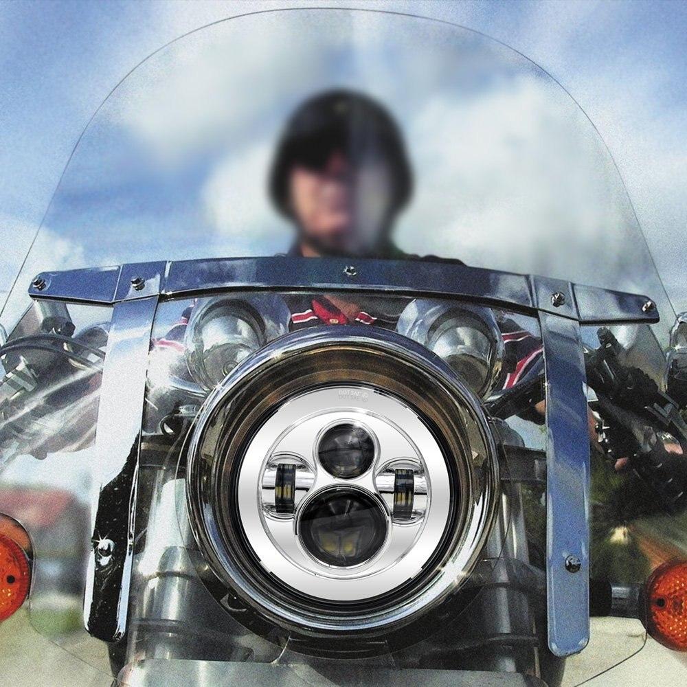 For Harley Touring Trike FLS, FLSTC, FLSTF, FLSTFB, Harley Motorcycle Accessories 7  Daymaker Projector LED Headlamp Headlights