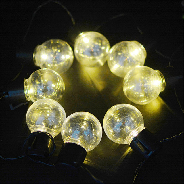 Merveilleux Solar Globe 10 LED Ball String Lights Solar Powered Christmas Light Patio  Lights Lighting For Home