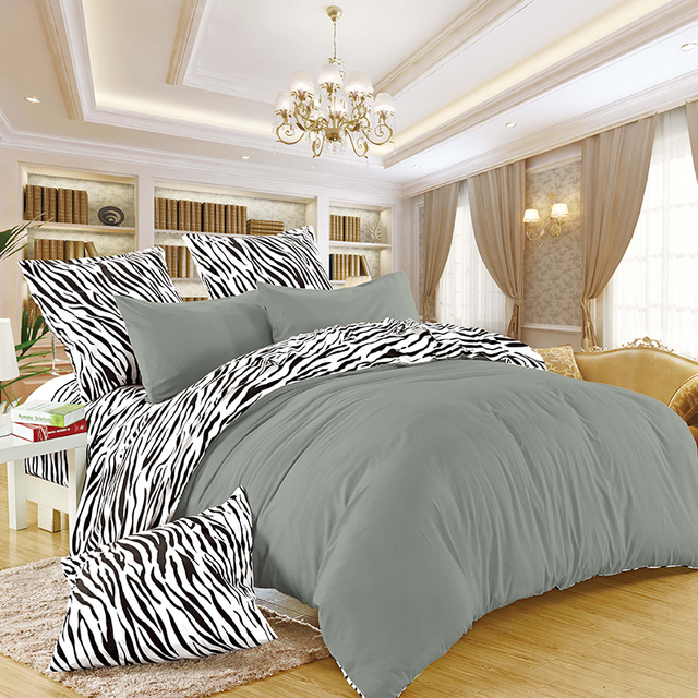 Liliya Bedding Set Zebra Stripes High Quality Sets New Style Flat Sheet Pillowcase Bed Linens Duvet Cover Bm