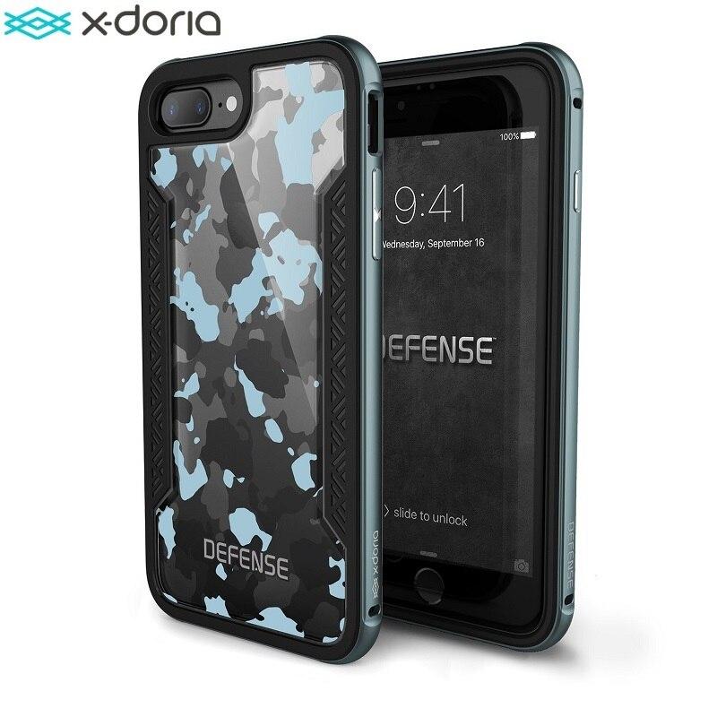 imágenes para X-doria Defensa Caso Protector para el iphone 7 Plus/Coque iPhone 7, Grado militar del Ensayo de Caída, TPU y Protector de La Cubierta De Aluminio