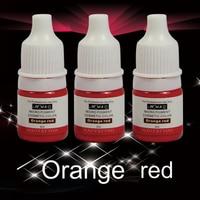 2Pcs Orange Red Professional Semi Permanent Makeup Tattoo Ink Vacuum Aseptic Makeup Pigment For Eyebrows Eyeliner