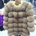 201 Fashion Women Fur Coat 70CM Longer Section of Natural High-Quality Faux Fox Fur Coat Short Coat Female Winter Warm Jacket