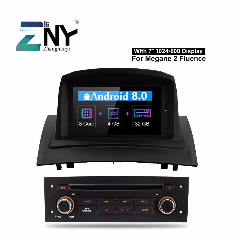 Android 8.0 Rádio Do Carro DVD Player Para Renault Megane 2 2005-2009 7 IPS Auto Estéreo Multimídia GPS navegação 4 + 32 GB Câmera Presente