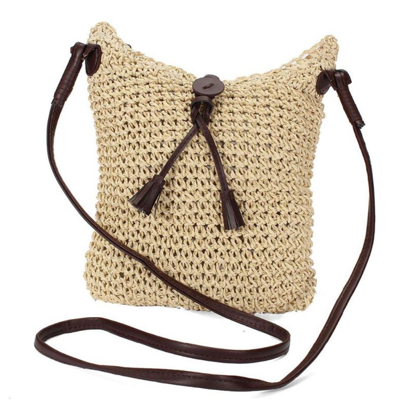 Fabric bags Shoulder Straw Summer of Women Fabric Crossbody Bags Canvas Jute Beach Travel Bag amira sabet el mahrouky improvement of jute packages to resist insects during crops storage