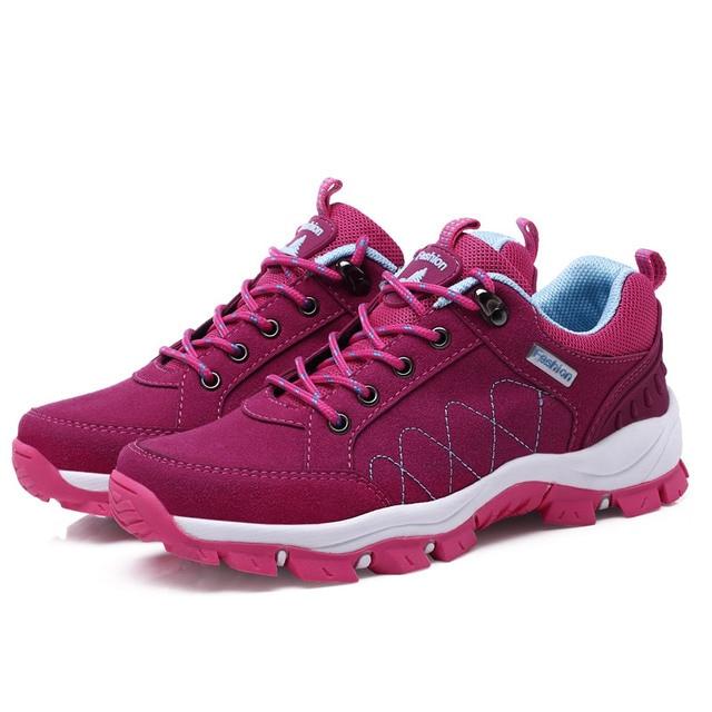 Hundunsnake Outdoor Mountain Hiking Shoes Women Sneaker Lady Sport Trekking Krasovki Female Gumshoe Chaussure Femme Code To T143