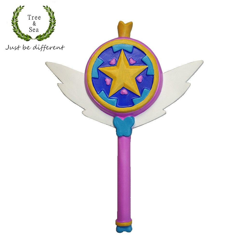 Étoile contre les Forces du mal princesse étoile papillon baguette magique cosplay baguettes en caoutchouc jouet jeu de rôle prop