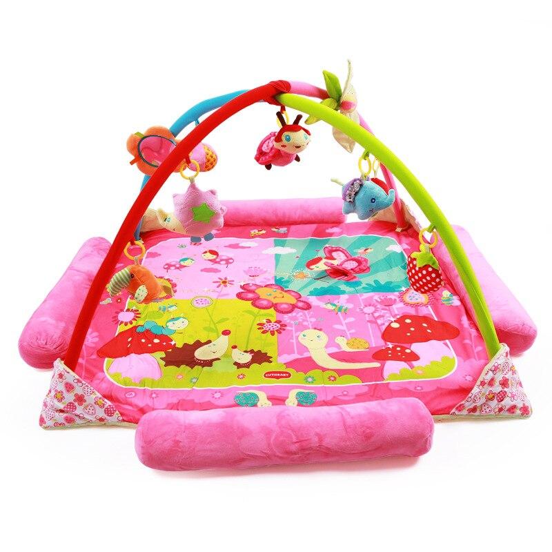 Jeu de musique couverture jouets motif de dessin animé multifonctionnel BabyToy bébé jeu de Fitness jeu tapis rampant 0-12 mois-1-2 ans
