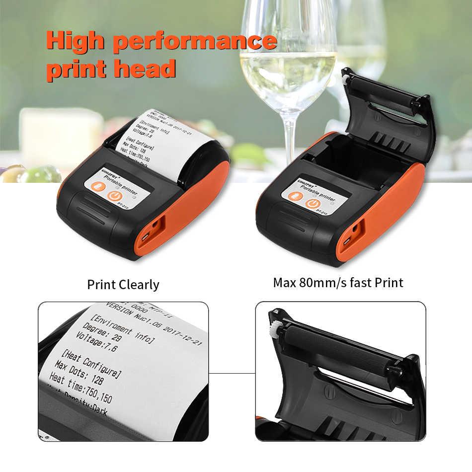 Venta al por mayor Pos Mini impresora térmica de recibos de bolsillo Impresora inalámbrica Bluetooth para el teléfono Android iOS soporte ESC/POS