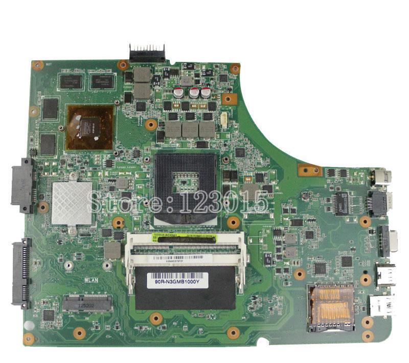 Prix pour Pour asus k53sv série x53s a53s k53sj k53sc p53s k53sv carte mère rev 2.1 2.3 3.0 3.1 Gt540m 8 pcs de stockage portable mainboard