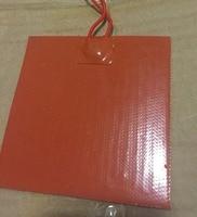 Elettrico 12 v silicone riscaldamento pad con 3m adhesive del silicone 300x300mm 150w silicone printer/heater pad /mat