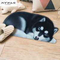 XYZLS Creative 3d Dog Shape Doormat Anti slip Rugs for Living Room Carpets for Bedroom Kitchen Bathroom Floor Mat