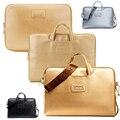 "Fashion PU leather Laptop Shoulder Bag Messenger Bag Cover Case Handbags Tote For Macbook Pro Air 13""14""15"""