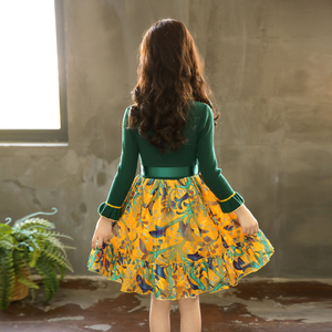 Image 5 - Girls Knitted Dress Autumn Winter Girls Dress Floral Pattern Girls Party Dress Kids Teenage Clothes For Girls 6 8 10 12 13 14