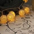 10m 100 Holiday Lighting LED String Fairy Lights Iron Metal Wire Luces de Navidad Christmas Lights Outdoor Wedding Decorations