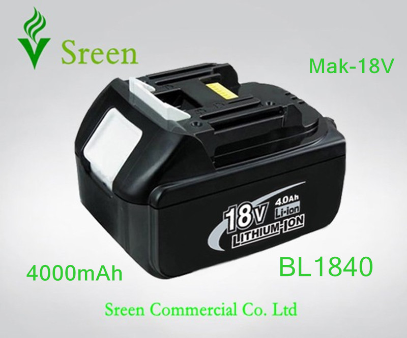 New 4000mAh Rechargeable Lithium Ion Battery Replacement Power Tool Battery for Makita 18V BL1830 BL1840 LXT400 BL1815 194205-3 1pc rechargeable battery for makita 12v pa12 2000mah ni cd replacement power tool battery formakita 1220 1222 1233s ves26 t40