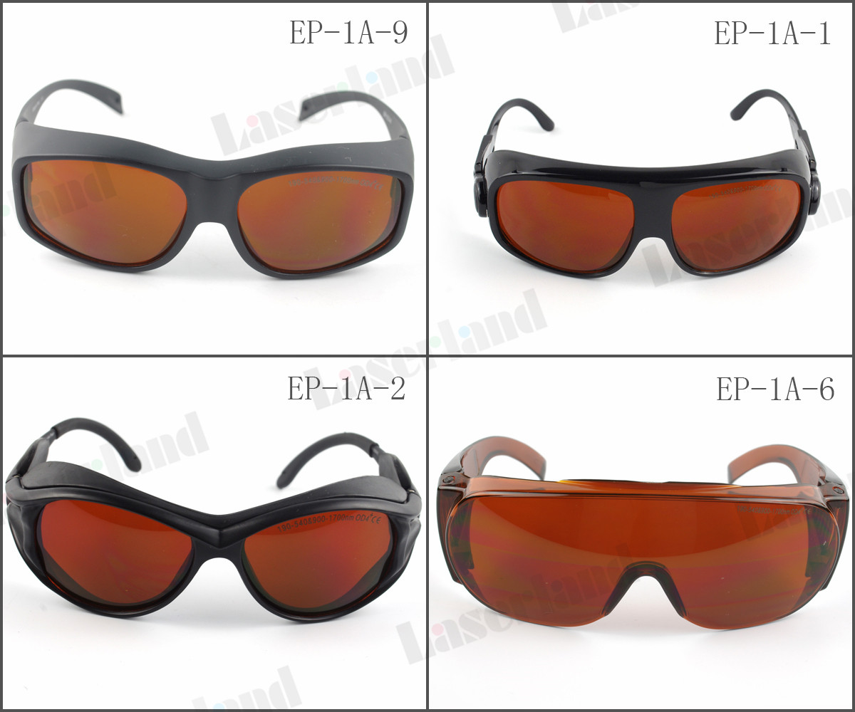 EP-1A 190nm-540nm & 900nm-1700nm 532nm 980nm 1064nm UV Green IR Laser Protective Goggles Glasses CE ep 8 9 190nm 470nm uv 800nm 808nm 1700nm od5 ir laser protective goggles glasses