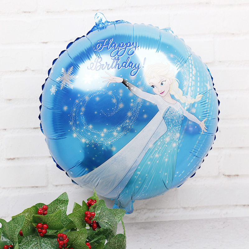 5pcs disney frozen anna and elsa balloon olaf birthday party decorations air balls baby shower girl princess party supplies toys - Elsa Christmas Decoration