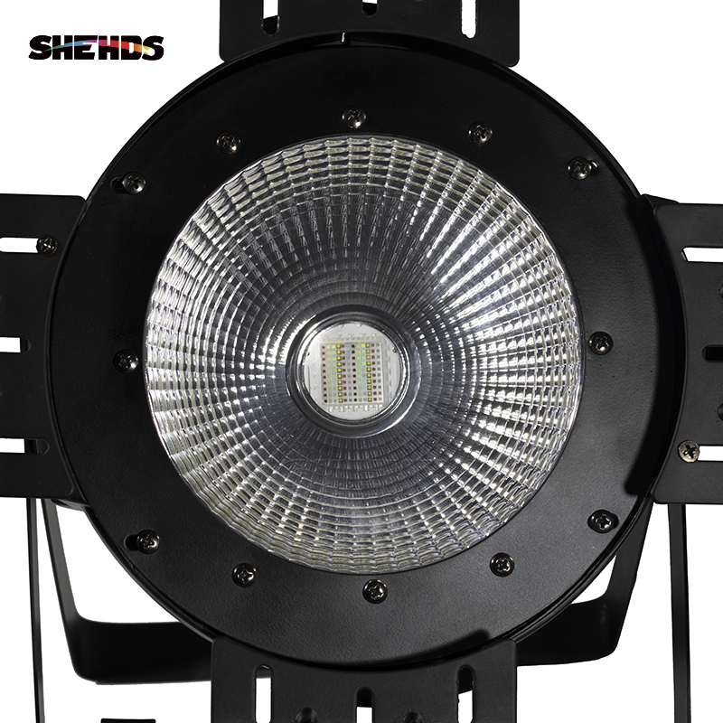 Image 4 - LED Par COB 200W With Barn Doors High Power Aluminium Case Stage Lighting With 200W COB RGBWA+UV 6in1 Cool White And Warm White-in Stage Lighting Effect from Lights & Lighting