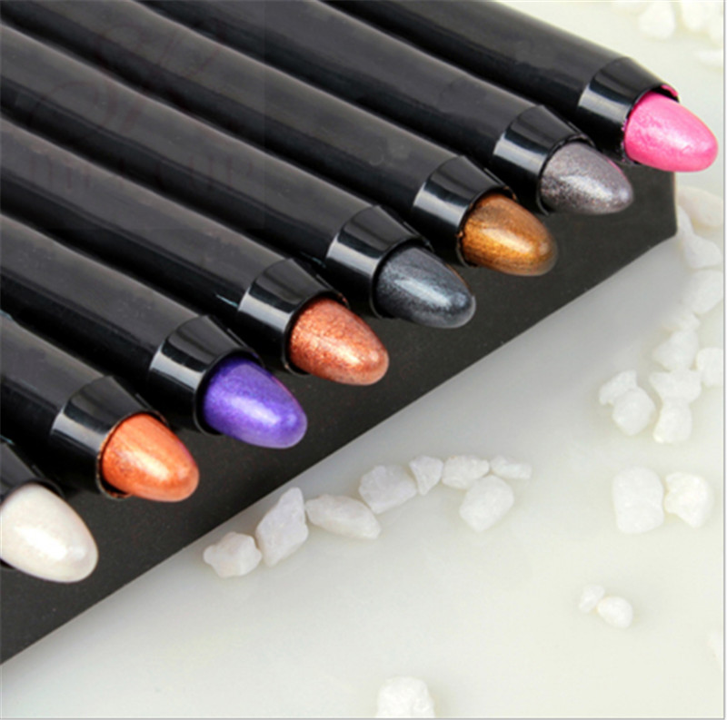 2017 New 1pc Beauty 24 Different Colors Highlighter Eyeshadow Pencil Cosmetic Glitter Ey ...