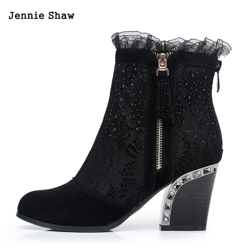 Genuine leather female spring and autumn boots lace elastic boots women's shoes high-heeled aiyuqi 2018 new spring genuine leather female comfortable shoes bow commuter casual low heeled mother shoes woeme