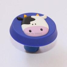 12 шт в партии Милая форма коровы ручки шкафа