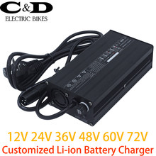 Customized Li-ion Lithium Battery Charger 12V 24V 36V 48V 60V 72V 2A 3A 4A 5A 6A 8A 10A 12A 15A 18A 20A 22A 25A 30A 40A 50-200A(China)
