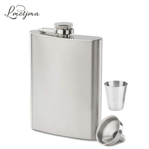 LMETJMA 7oz Hip Flask Set Stainless Steel Hip Flask With Funnel Drinking Cup Portable Hip Flask for Whiskey Liquor Wine KC0138