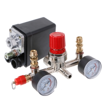 Pressure Regulating Valve Regulator Heavy Duty Air Compressor Pump Pressure Control Switch with Valve Gauge air compressor pressure regulator switch control valve gauge with male female connector
