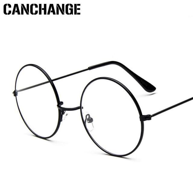 5cc1895daeb08 CANCHANGE Round Clear Glasses For Women Men Circle Metal Frame .