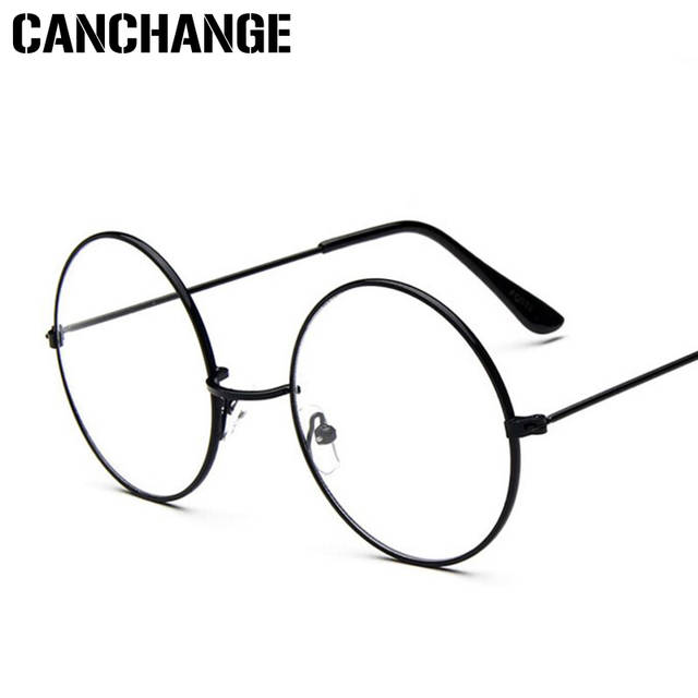 5f2a3eb238 placeholder CANCHANGE Round Clear Glasses For Women Men Circle Metal Frame  Transparent Eyeglasses Optical 2018 Retro Glasses