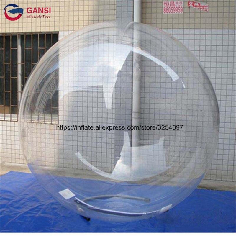 2 m diamètre effacer 1.0mm PVC gonflable boule de l'eau, enfants gonflable marcher sur l'eau boule de marche pour piscine