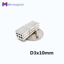 2000Pcs 3 x 10 mm Neodymium Magnet 3x10 3*10 N35 NdFeB Permanent Small Round Super Strong Powerful Magnetic D3*10 Magnets D3x10