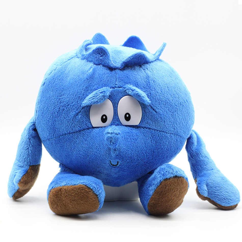Kartun Mewah Boneka Mainan Boneka Boneka 9 Inci Buah Sayuran Kembang Kol Jamur Blueberry Starwberry Lembut Mewah Boneka Mainan