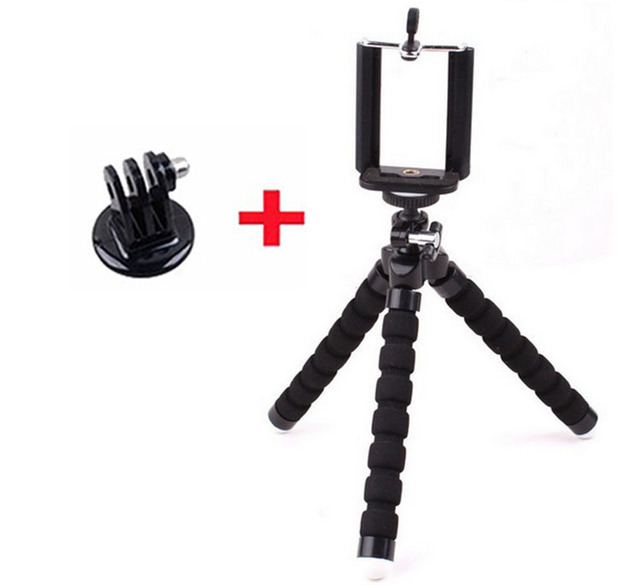 Go Pro Flexible Leg Mini Tripod for Go pro Digital phone and adapter mount for Gopro hero 4 3 + HD xiaomi yi cameras VP414 stand