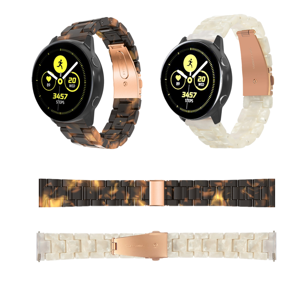 Watchband Strap For Garmin Vivomove HR/Vivoactive 3 20mm Watch Belt Smart Watch Resin Tortie Watchband for Garmin Vivomove Style