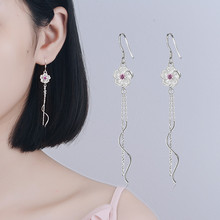 Everoyal Trendy Zircon Purple Lady Drop Earrings Jewelry Female Fashion 925 Sterling Silver Princess Accessories