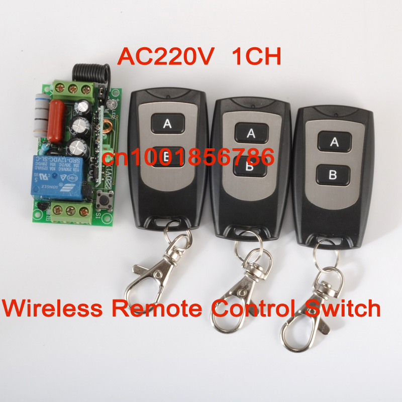 220V 1CH RF wireless remote control switch system 1 receiver &3 transmitter Latched add controller freely 315mhz/433mhz z-wave 315 433mhz 12v 2ch remote control light on off switch 3transmitter 1receiver momentary toggle latched with relay indicator
