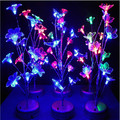 Novelty Colorful LED Tree Branch Night Light Dolphin Flower Dragonfly Bedside Table Lamp Home Decorative Gadget Lighting Lampada