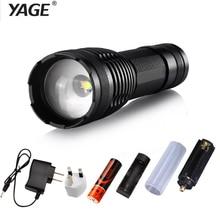 ФОТО yage 339c rechargeable 18650 flashlight cree xml-t6 led flashlight torch lanterna torche lampe lantern lampe de poche zoomable