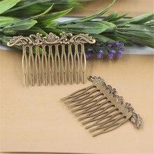 цены на 6 Colors Hair Comb Jewelry Charm Women Flower Motif Hairpin Hairclips Barrettes Retro Fashion Hair Wear  в интернет-магазинах