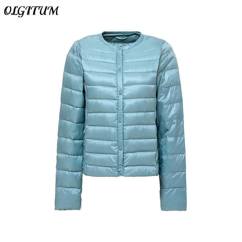 S-4XL Women New 90% White Duck Down   Parka   Coat Ultra Light Duck Down Jacket Round Neck Slim Short Jacket Portable Coat Plus Size