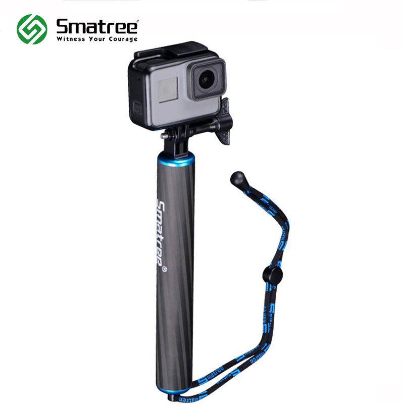 Smatree F1 Waterproof Floating Carbon Fiber Hand Grip for GoPro Hero 7/6/5/4/3/2/1/Session/GoPro Hero 2018,Action Cameras аксессуар gopro hero 7 black aacov 003 сменная линза