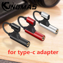 лучшая цена usb type c to 3.55mm jack audio splitter headphone cable Earphone aux 3.5 Adapter charger usb-c for xiaomi 8 for huawei P20 PRO