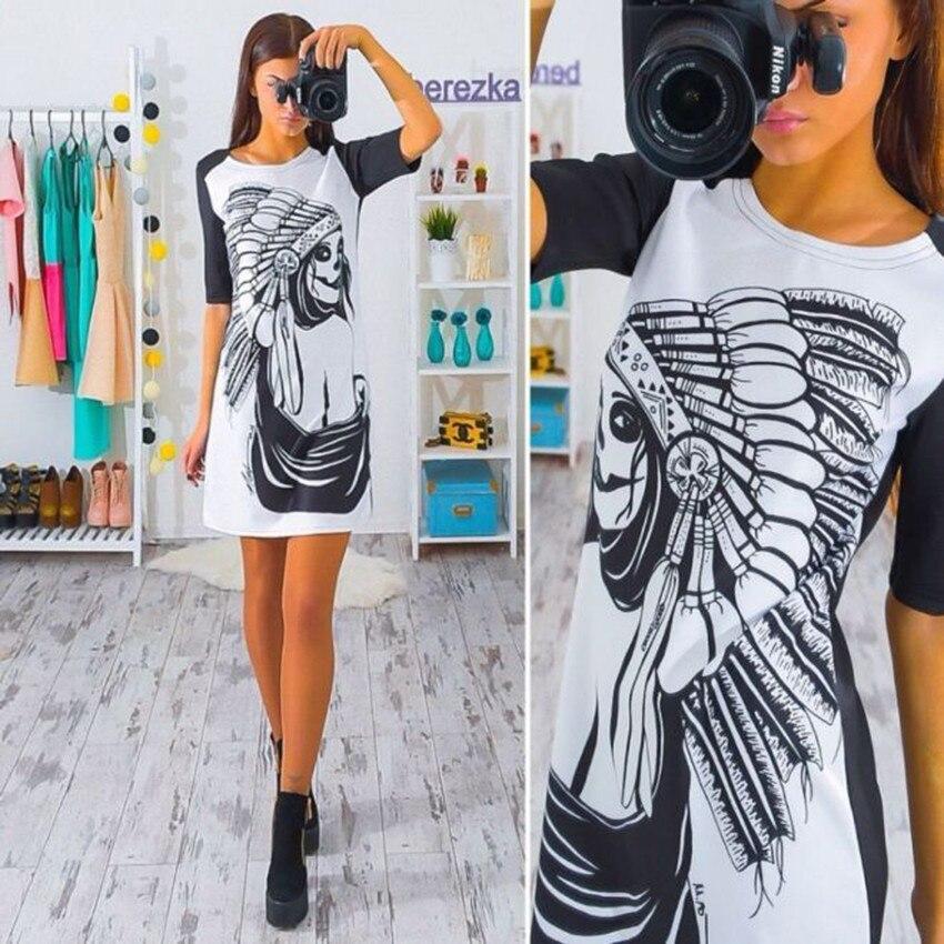 2017 nueva llegada del verano de las mujeres sexy print dress dress del cuello m