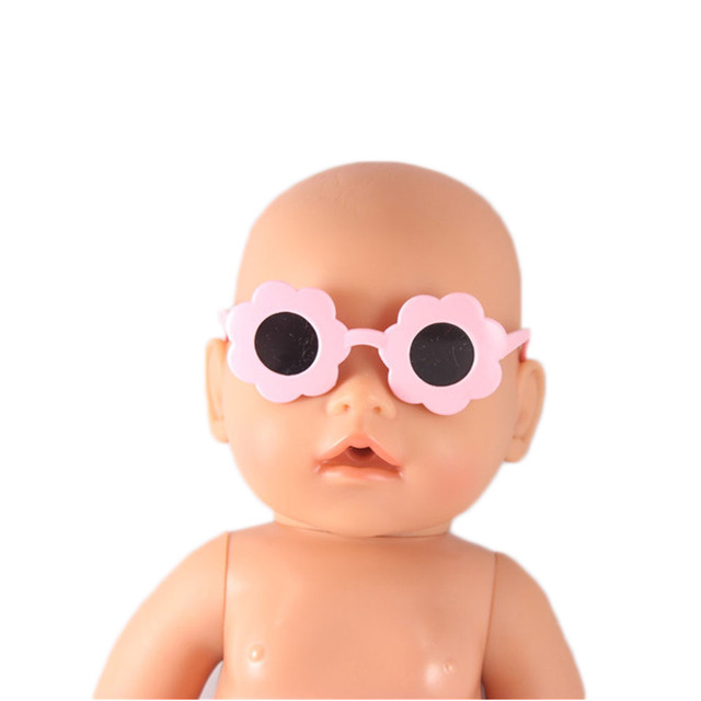 ce6aa40bd24 New Baby Doll Pink Sunflower Sunglasses Doll accessories